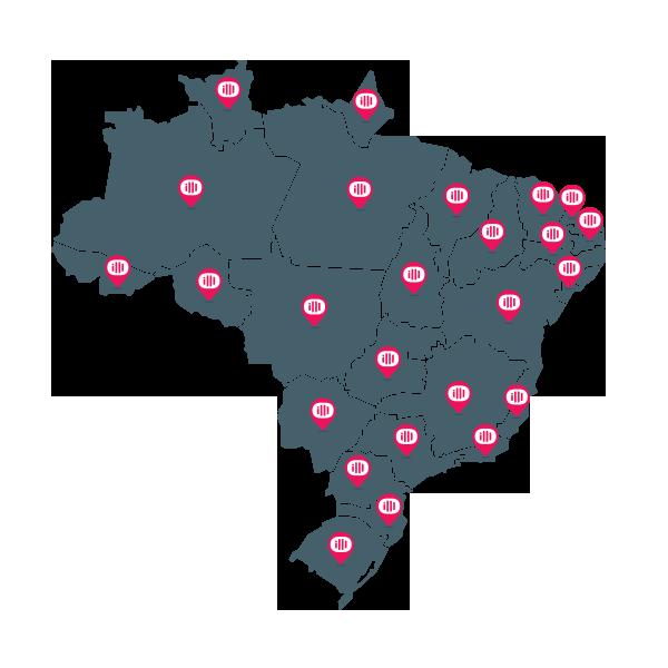 mapa clientes imedicina software