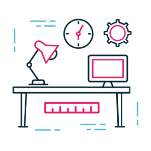 Ilustração - mesa de trabalho